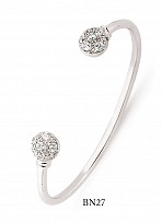 Children's Silver Cubic Zirconia Torque Bangle