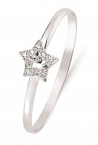 Children's Silver Cubic Zirconia Star Bangle