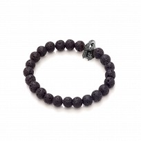 Lava Stone Black Rhodium Plated