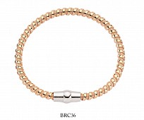 Rose Gold Plated & Silver Magnetic Bracelet