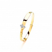 Expandable 9ct Childrens' CZ Bangle