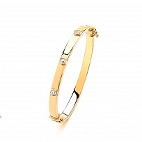 9ct Childrens' CZ Bangle