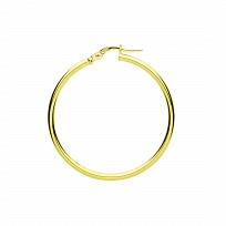 9ct Gold 30mm Hoop Earrings
