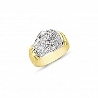 9ct Gold with CZ Stones Boxing Glove Gents Ring