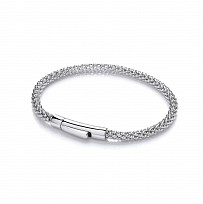 Silver Fancy Correana Bracelet With Polished Clip Catch