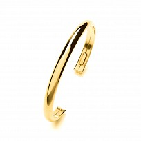 Gold Plated Plain Dome Torque Bangle