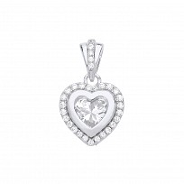 Gold Plated CZ Heart Fancy Pendant