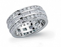 Silver CZ Full Eternity Fashion Ring