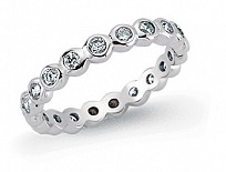 Silver CZ Set Drop Full Eternity Ring