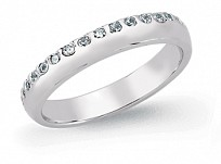 Silver CZ Set Eternity Ring