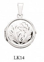 Silver Round Flower Design Locket