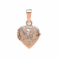 Silver Rose Gold Plated Heart Locket