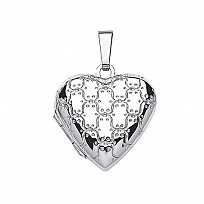 Silver Heart Fancy Locket