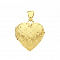 Gold Plated Heart Design Photo Locket