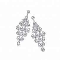 Silver Swarovski® Zirconia DD Fancy Drop Earrings