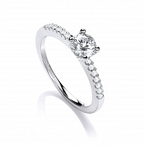 Swarovski Zirconia .75 ct Solitaire Fancy Ring