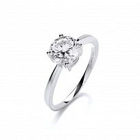 Swarovski Zirconia Claw Set Solitaire 2ct Ring